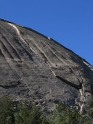 Rock Climbing Photo: Flake Route.  Ascends the obvious left facing flak...