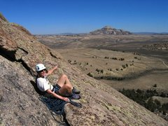 Rock Climbing Photo: Top of pitch 3 of Flake Route.  Great views!