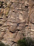 Rock Climbing Photo: Chad entering the slanting crack