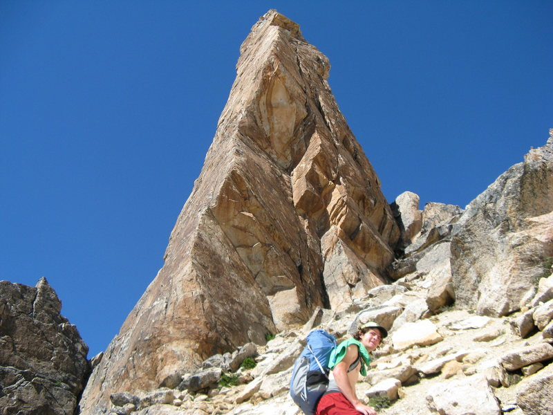 Rock Climbing Photo: La Vieja, with the route Sudafricana facing.  The ...