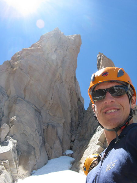 Below 'Siniestro Total' on Cerro Principal in Frey, Argentina.  Probably the best route I have ever climbed.