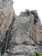 Rock Climbing Photo: During the first ascent of the route