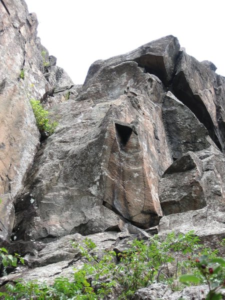 Rock Climbing Photo: A very nice finger crack albeit all too short to f...