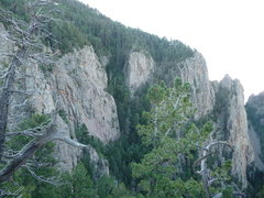 Rock Climbing Photo: Photo taken in early-morning light from just west ...
