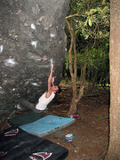 Rock Climbing Photo: Steve Lovelace tossing off the phantom crimp on &q...