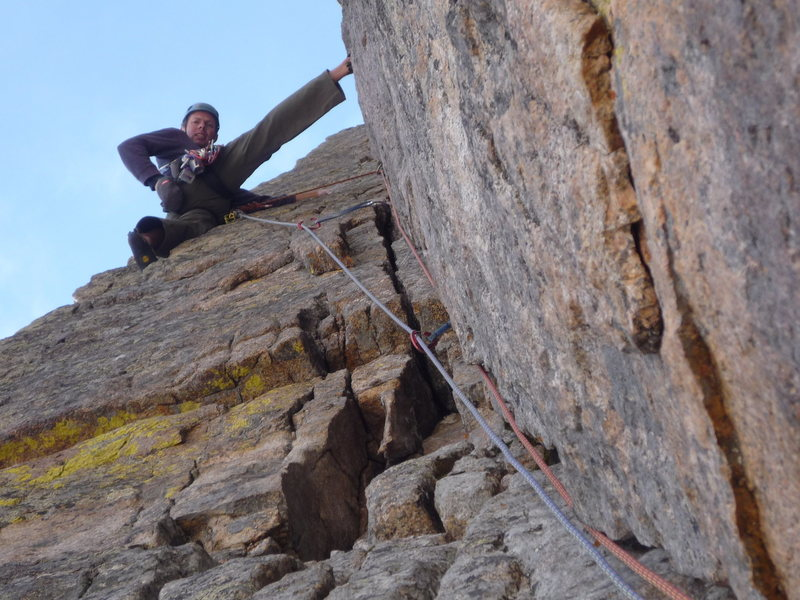 """Mark Roth leading the fouth pitch Dihedral and doing it """"casually""""."""