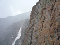 Rock Climbing Photo: Roth across the Table Ledge crack pitch. Casual Ro...