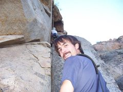 Rock Climbing Photo: Dan giving me a solid belay on the FA Roshambo, P2...