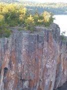 Rock Climbing Photo: Sending it as a 2 pitch. SteveZ at the belay. 8/20...