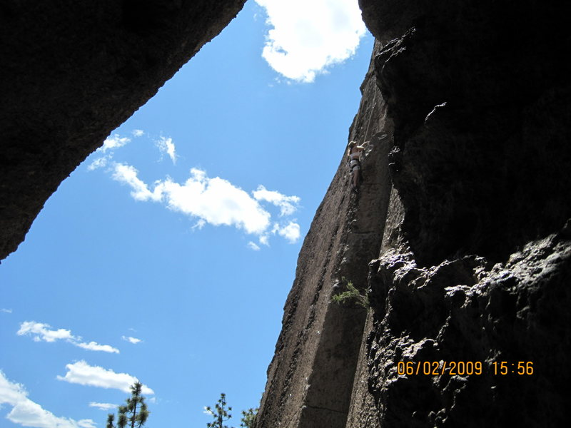 Rock Climbing Photo: Up near Mammoth on our weeklong in Bishop