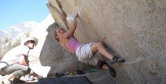 Rock Climbing Photo: Iron Man, Buttermilks, minus doug the pad