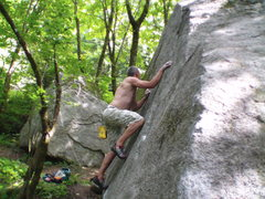 Rock Climbing Photo: Up on the Presstoe Slab