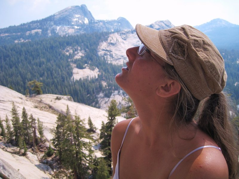 Belaying at Pitch 2 of West Crack in Yosemite.... pre-epic...