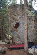 Rock Climbing Photo: Got the triangle.