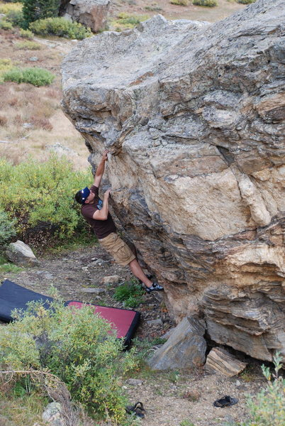 Rock Climbing Photo: Working the V2.