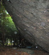 Rock Climbing Photo: The front face of Olympus Boulder