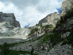 Rock Climbing Photo: En route to a failed attempt on the Grand Teton...
