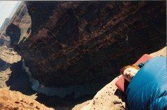 Rock Climbing Photo: Sleeping on the ledge at Toroweep