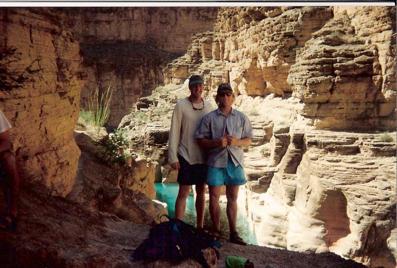 Dave Bigelow and I in the mouth of Havasu