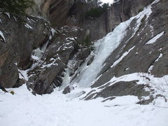 Rock Climbing Photo: View of Goofers Delight from the approach trail.  ...