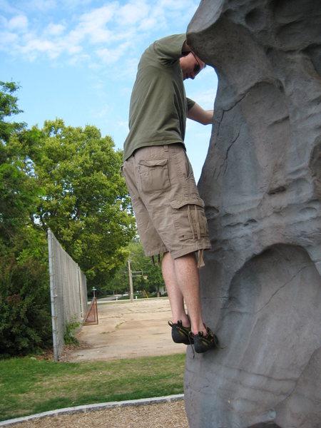 Rock Climbing Photo: Chad throwin' down on the Northeast Arete.