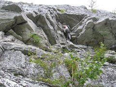 Rock Climbing Photo: Here is one of many fun moderate lines up the Bont...