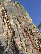 Rock Climbing Photo: A route overview of the north face of the Ashes of...