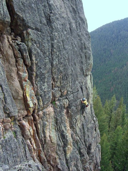 Rock Climbing Photo: Bryan works out the lower section on the first att...