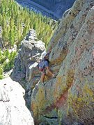 Rock Climbing Photo: Trevor embracing the funk on Headline's second pit...