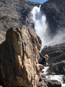 Rock Climbing Photo: Bouldering in Yoho Nat'l Park.