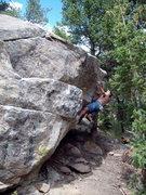 Rock Climbing Photo: Tunes Boulder, Boulder Canyon