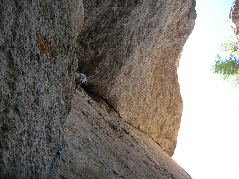 Rock Climbing Photo: Just before starting the wild crack of Char Char.....