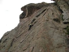 Rock Climbing Photo: Kristie climbing clean edges on superb granite (gr...