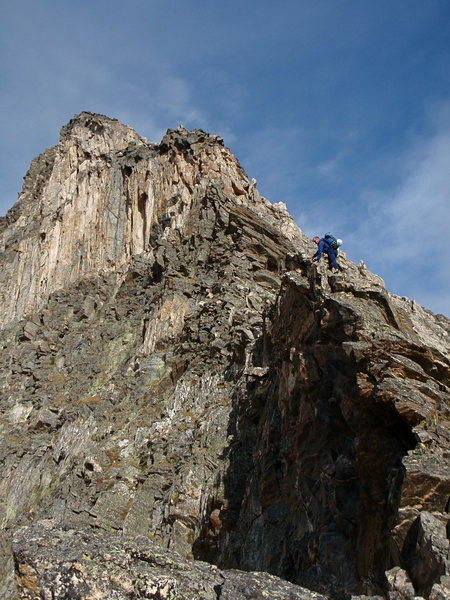 The upper section of Blitzen Ridge.