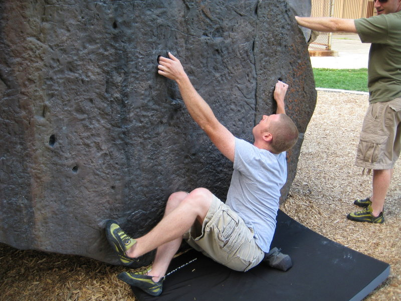 Rock Climbing Photo: Ryan on the sit start of Cowboy Slab.