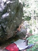 Rock Climbing Photo: Caroga Lake Boulder, NY