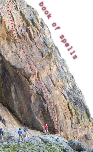 Rock Climbing Photo: Enter the Book of Spells, it might be frightful.