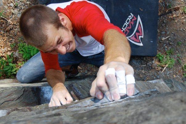 Rock Climbing Photo: goin up'