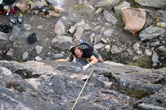 Rock Climbing Photo: Ryan enjoying Blurry