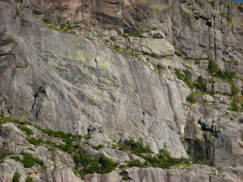 Climbers on Free Ride(5.11a) 9-5-09 <br> If this is you contact me. I have more photos