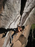 Rock Climbing Photo: Attempting La Zebree (5.14a) at Mont King, Quebec,...
