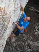Rock Climbing Photo: The redpoint crux.  Atleast, until you get past th...