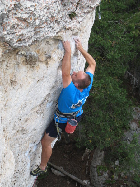 Rock Climbing Photo: With the previous bolt at your feet and a mounting...