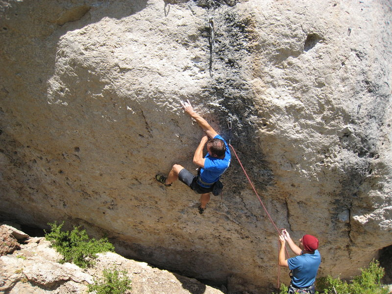 Rock Climbing Photo: One of many hard cranks on Two Kinds of Justice.