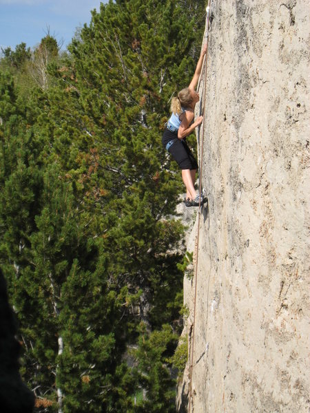 Rock Climbing Photo: Did we mention the long reaches?  With good techni...