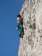 Rock Climbing Photo: The upper half of Posse is fun & juggy, with big r...