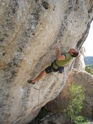 Rock Climbing Photo: Working out the crux of Atomic Stetson on the Rode...