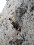 Rock Climbing Photo: Starting up the fun Windy City.  Go Bears!