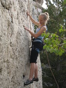 Rock Climbing Photo: The crux start of Wind River Rose