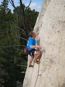 Rock Climbing Photo: Easy slab finish.
